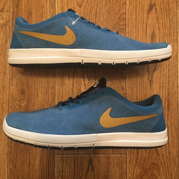 best official competitive price [Nike] Free SB Nano Blue Suede Men's Shoes NEW